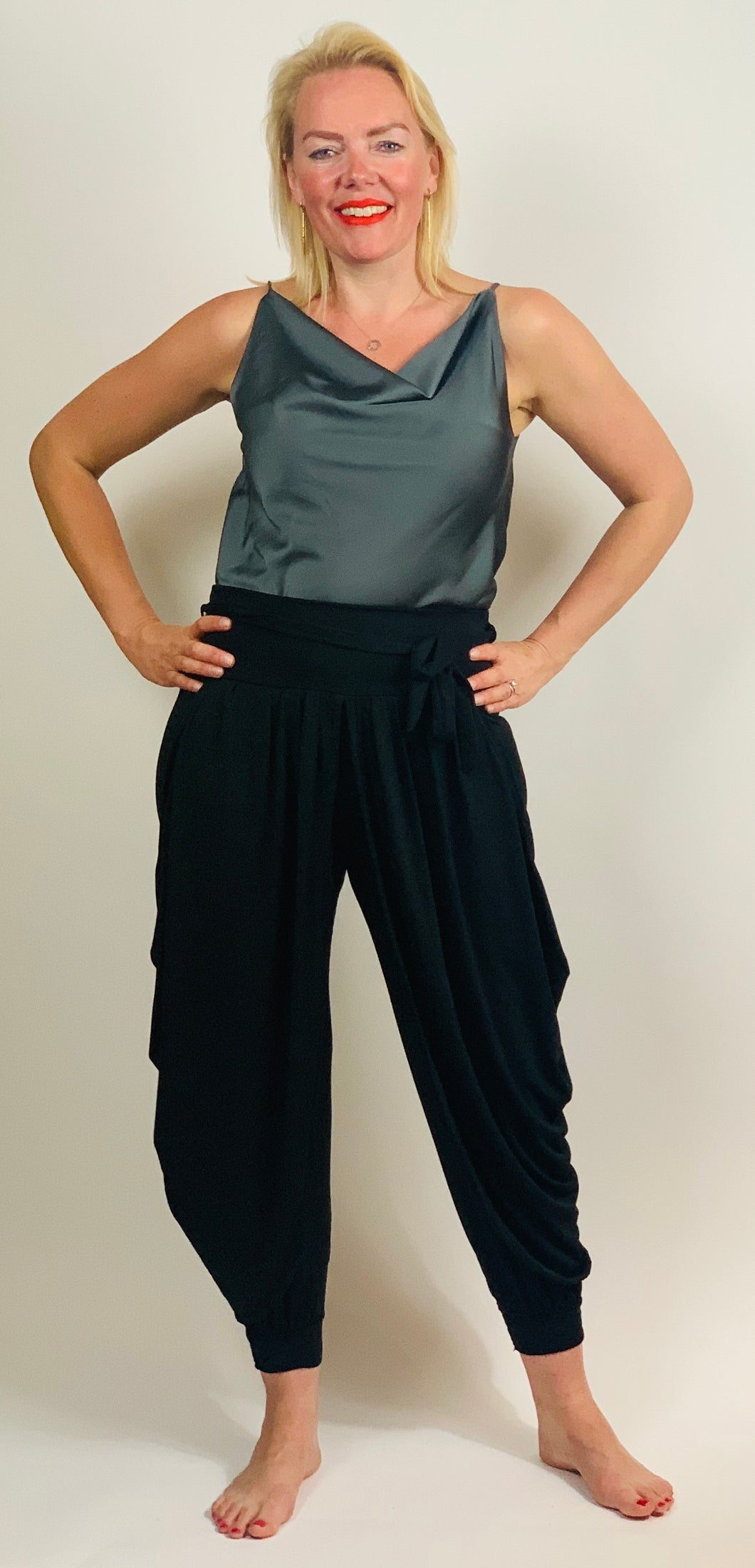 Cowl Neck Satin Vest Top - chichappensboutique