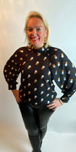 Load image into Gallery viewer, Tricolour Polka Dot Blouse (various colours) - chichappensboutique