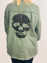 Load image into Gallery viewer, Embossed Skull Back Shirt/Jacket - chichappensboutique