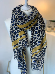 Vibrant Animal Scarf by Gerard Pasquier (Various colours) - chichappensboutique