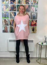 Load image into Gallery viewer, Longline Essential Star T-shirt (various colours) - chichappensboutique