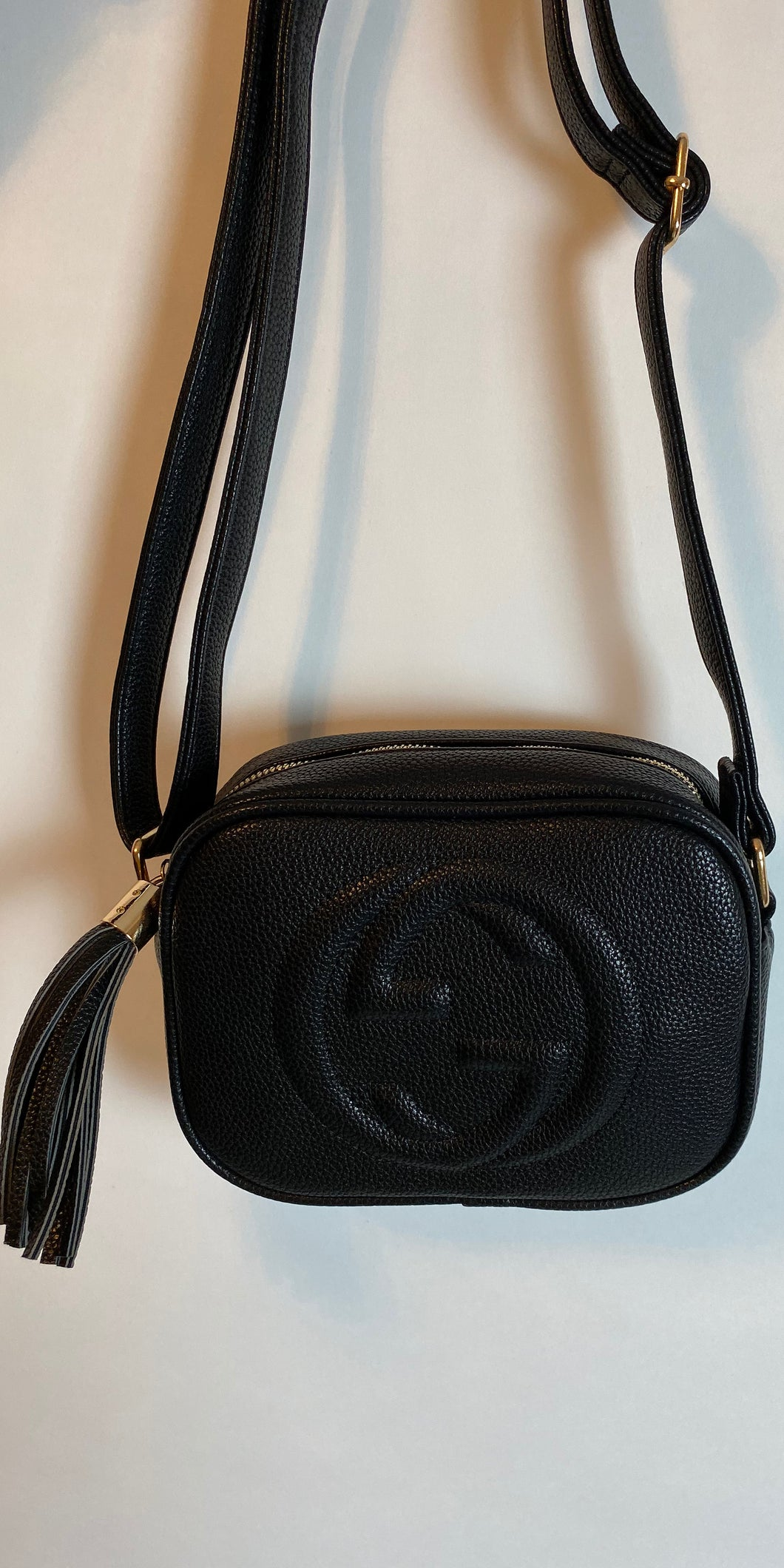 Black Gucci Inspired Cross Body Bag - chichappensboutique