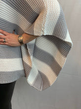 Load image into Gallery viewer, Stripe Slouchy Cable Knit - chichappensboutique
