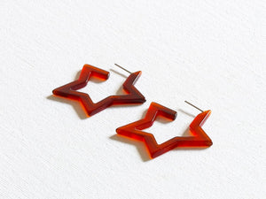 Megan Star Resin Earrings - chichappensboutique