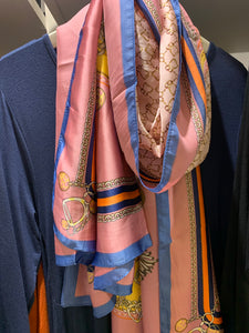Satin scarf with chain detail - chichappensboutique