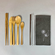 Load image into Gallery viewer, Dandelions On-The-Go Utensil Set