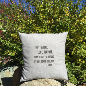 Wright Quote: Love Nature Pillow