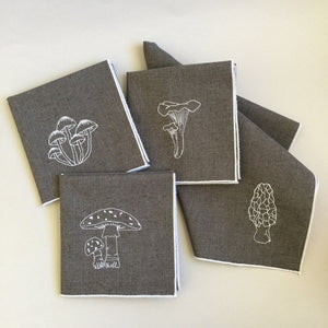 Mushrooms Dinner Napkins