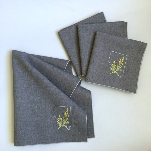 Nevada with Sagebrush Dinner Napkins