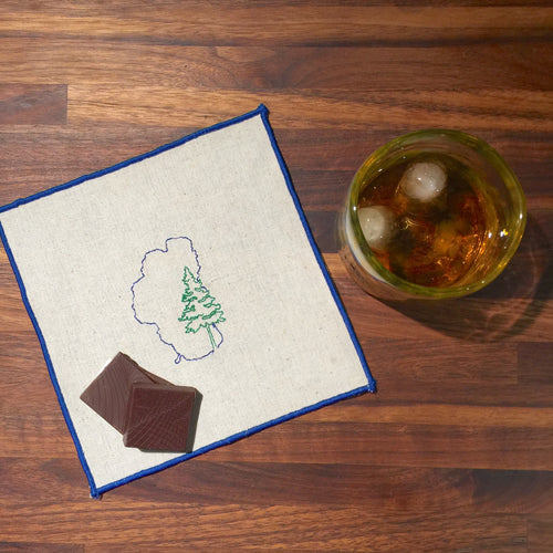 Lake Tahoe with Pine Cocktail Napkins