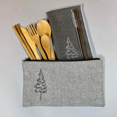 Pine Tree On-The-Go Utensil Set