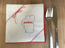 Load image into Gallery viewer, Lake Tahoe You & Me Dinner Napkins