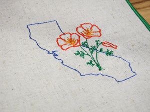 California with Poppies Dinner Napkins