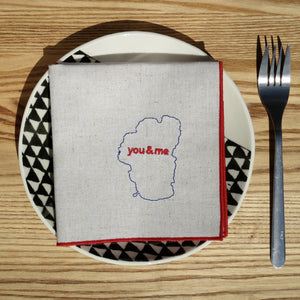 Lake Tahoe You & Me Dinner Napkins