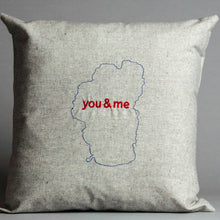 Load image into Gallery viewer, Lake Tahoe You & Me Pillow