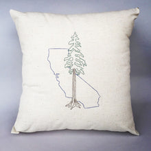 Load image into Gallery viewer, California with Redwood Pillow