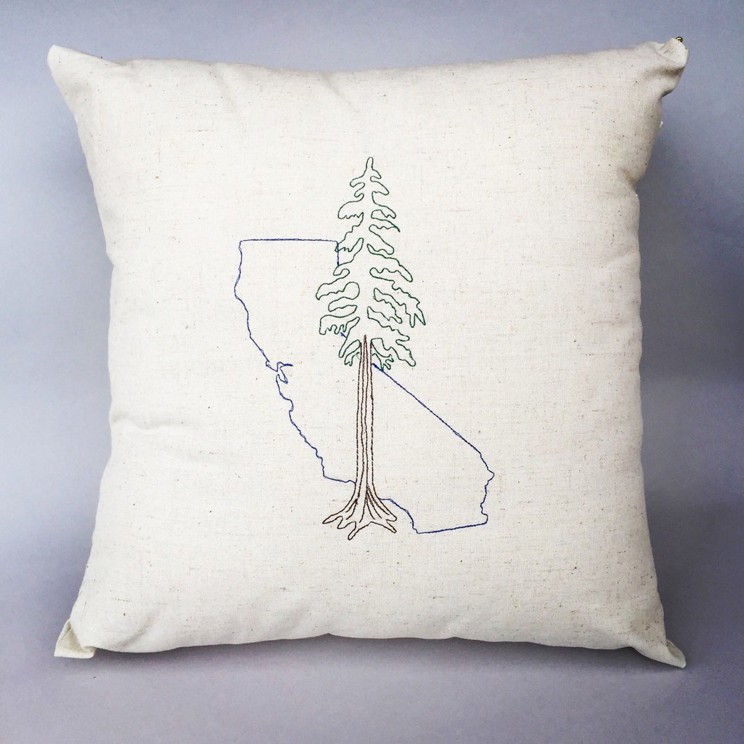 California with Redwood Pillow