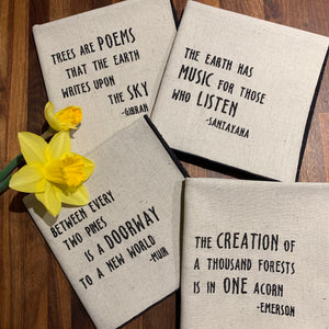 Nature Quote Collection Dinner Napkins