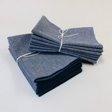 Load image into Gallery viewer, Hemp Denim Napkins, Storm, Set of 6
