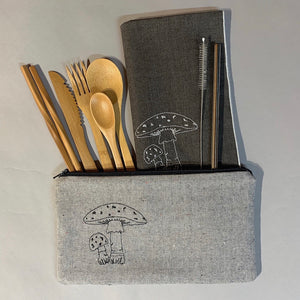 Mushroom On-The-Go Utensil Set