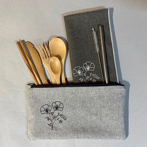 Poppies On-The-Go Utensil Set