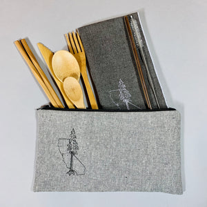 California with Redwood On-The-Go Utensil Set