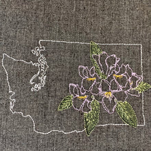 Load image into Gallery viewer, Washington with Rhododendron Towel
