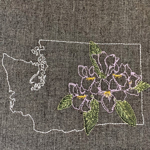 Washington with Rhododendron Towel