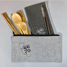 Load image into Gallery viewer, California with Poppies On-The-Go Utensil Set