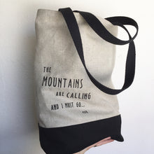 Load image into Gallery viewer, Mountains Tote Bag