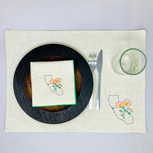 Load image into Gallery viewer, California with Poppies Placemats