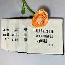 Load image into Gallery viewer, Rumi Quotes Dinner Napkins