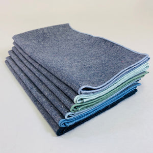 Hemp Denim Napkins, Pacific, Set of 6