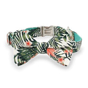Jungle Leaves Bow Tie Collar - arthemisclothing - arthemis clothing - artemis clothing