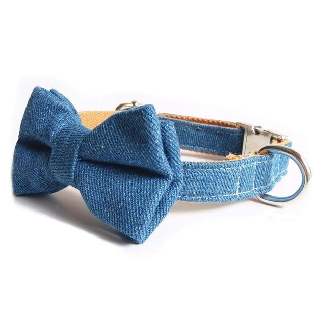 Jeans Bow Tie Collar