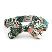 Jungle Leaves Bow Tie Collar
