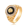 14k Gold Medusa Ring-Ring--Capital Bling