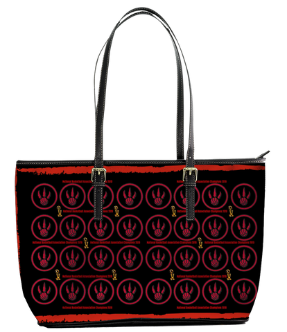 Toronto Raptors 2019 NBA Champions Black Leather Tote