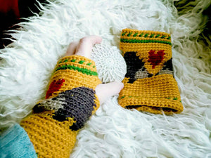 Hedgehog Fingerless Mittens, Crochet Gloves