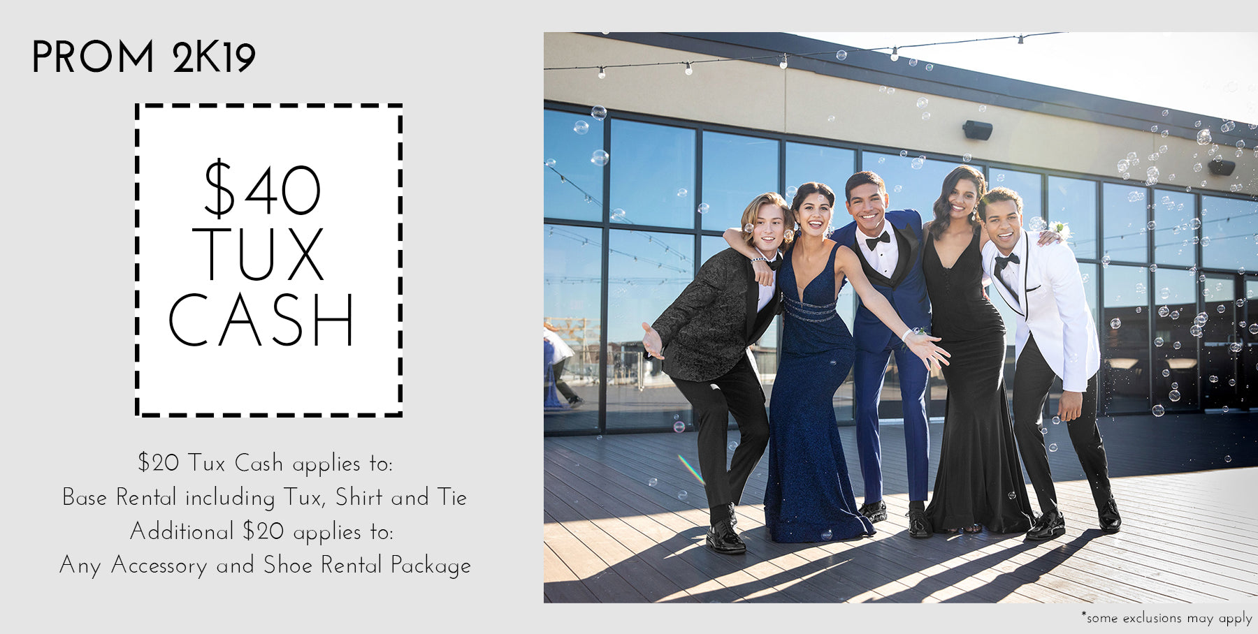 $40 Tux Cash at San Marko PROM 2k19 Tuxedo Custom Formal Wear | Fit Is Everything