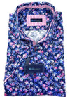 BLU by Polifroni Blue & Purple Floral Sport Shirt