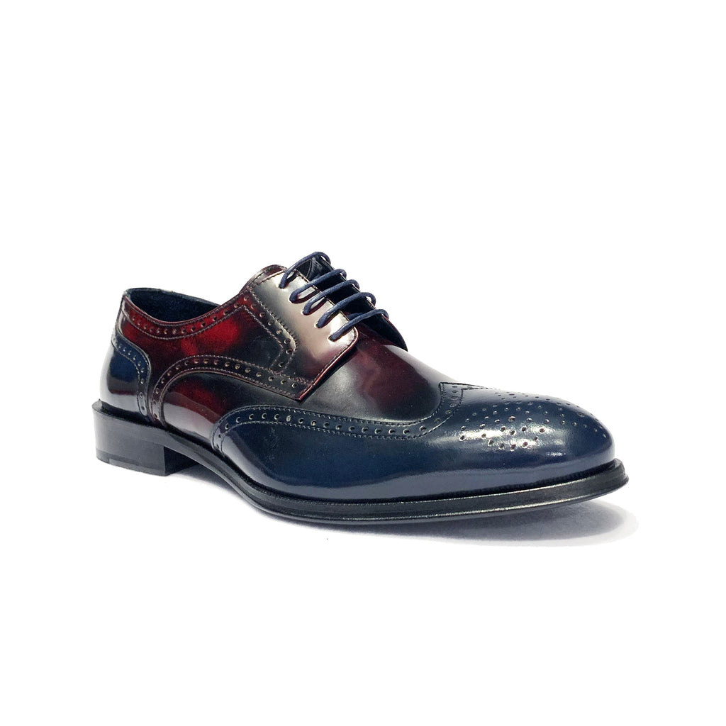 Jared Lang WingTip - Blue/Maroon