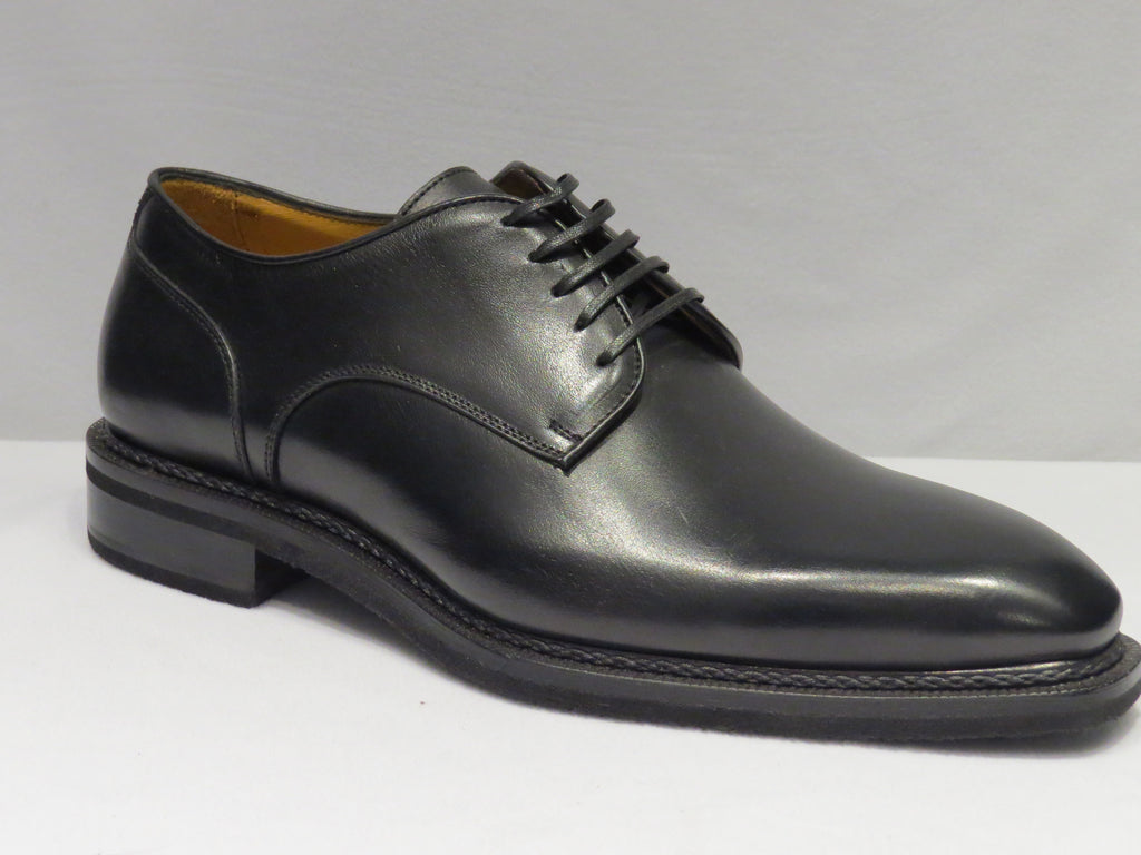Black Lace Up Plain Toe Shoes