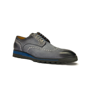 Jose Real Wingtip Sneaker Shoes in Anthracite Grey