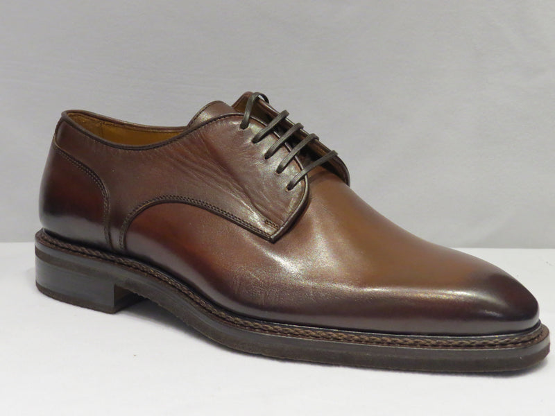 Brown Lace Up Plain Toe Shoes