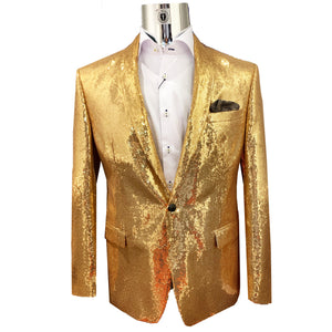 Tallia Sequence Blazer - Gold