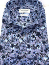 Bruun & Stengade Blue and Grey Floral Sport Shirt