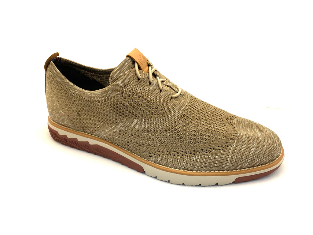 Hush Puppies Natural Tan Mesh Lace-in-Place Sneaker Shoes