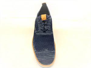 Hush Puppies Navy Blue Mesh Lace-in-Place Sneaker Shoes