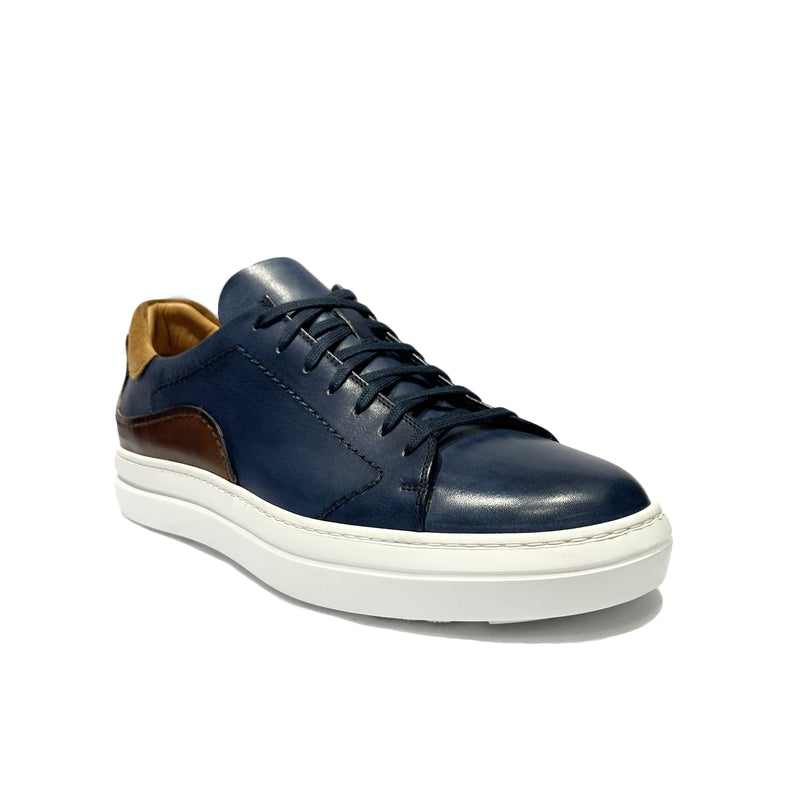 Blue Leather Sneaker Shoes